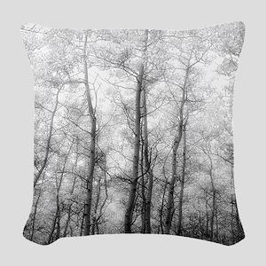 Aspen Tree Forest, Black & White Photography Woven