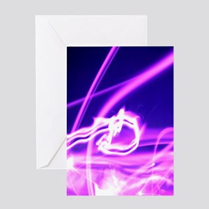 Hot Pink Flame Greeting Card