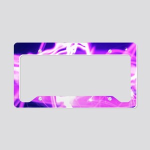 Hot Pink Flame License Plate Holder