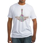 Guitar Wine Color Fitted T-Shirt
