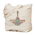 Guitar Wine Color Tote Bag