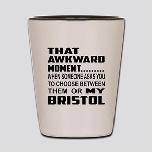 That awkward moment.... Bristol cat Shot Glass