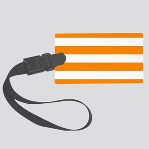 Orange: Stripes Pattern (Horizon Large Luggage Tag