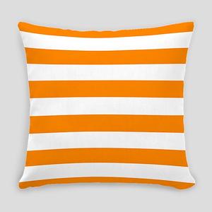 Orange: Stripes Pattern (Horizonta Everyday Pillow