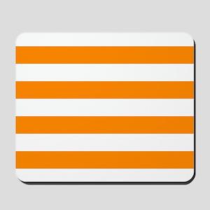 Orange: Stripes Pattern (Horizontal) Mousepad