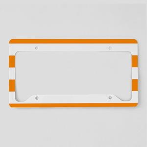 Orange: Stripes Pattern (Hori License Plate Holder