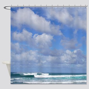 Haleiwa Trade Wind Clouds Shower Curtain