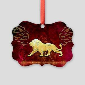 Lion in golden colors Ornament