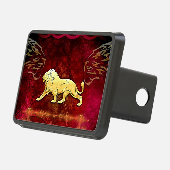 Lion in golden colors Hitch Cover