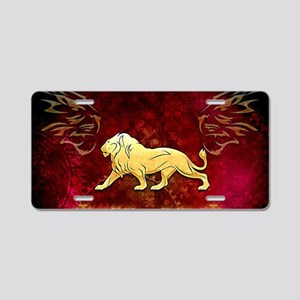 Lion in golden colors Aluminum License Plate