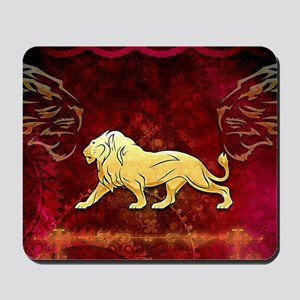 Lion in golden colors Mousepad