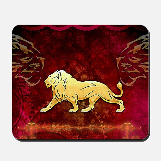Lion in golden colors Mousepad