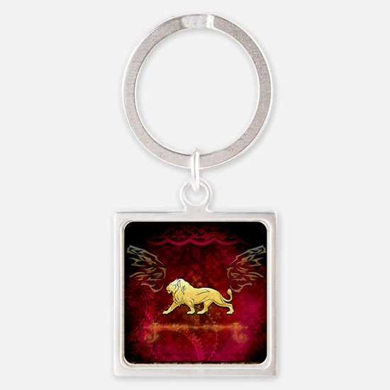 Lion in golden colors Keychains