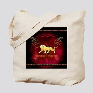 Lion in golden colors Tote Bag