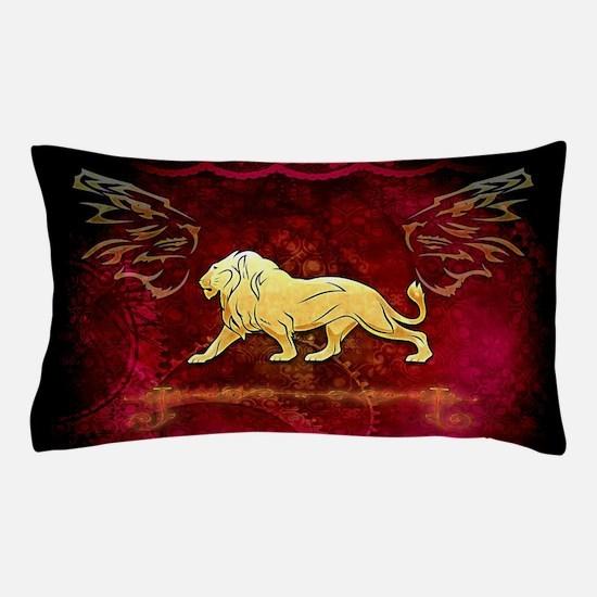 Lion in golden colors Pillow Case