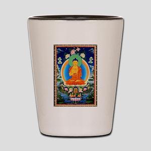 Tibetan Thangka Prabhutaratna Buddha Shot Glass