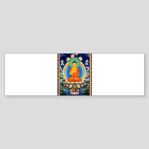 Tibetan Thangka Prabhutaratna Buddh Bumper Sticker