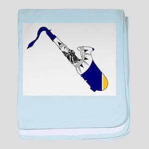 Nashville Jazz Flag baby blanket