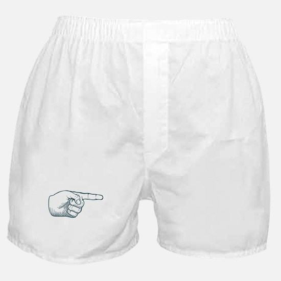 Hand draw sketch vintage index finger Boxer Shorts