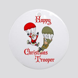 Military Christmas Round Ornament