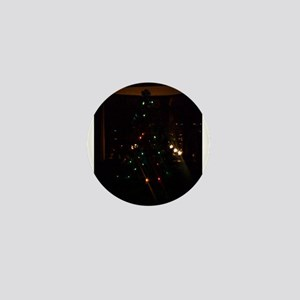 Christmas Tree at Night Mini Button
