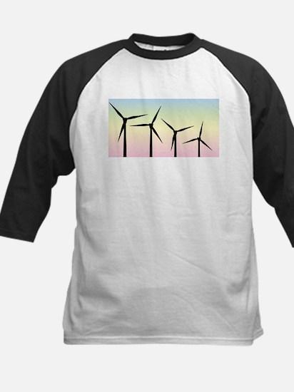 Wind Farm Morning Baseball Jersey