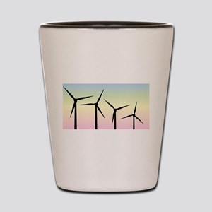 Wind Farm Morning Shot Glass