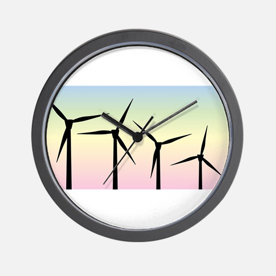 Wind Farm Morning Wall Clock