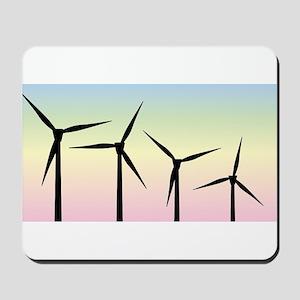 Wind Farm Morning Mousepad