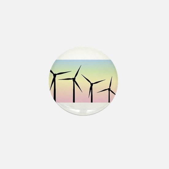 Wind Farm Morning Mini Button