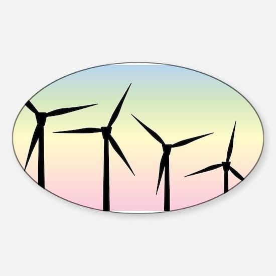 Wind Farm Morning Decal