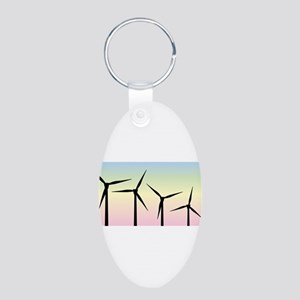 Wind Farm Morning Keychains