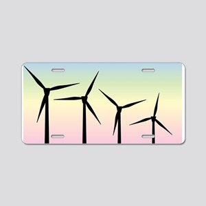 Wind Farm Morning Aluminum License Plate