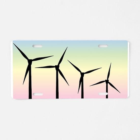 Wind Farm Morning Aluminum License Plate