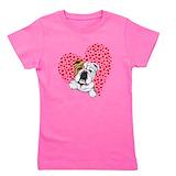 Bulldog Girl's Dark T-Shirt