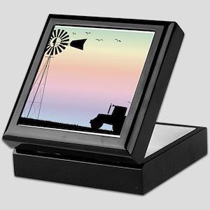 Farm Morning Sky Keepsake Box