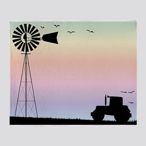 Farm Morning Sky Throw Blanket
