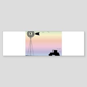 Farm Morning Sky Bumper Sticker
