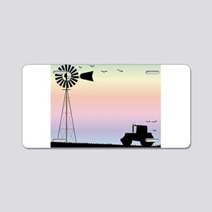 Farm Morning Sky Aluminum License Plate