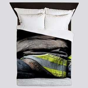 Fire Fighter Boots Queen Duvet