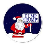 Santa Claus Dump Trump Round Car Magnet