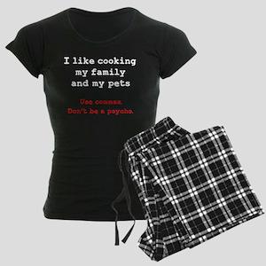 Cooking Psycho Commas Pajamas