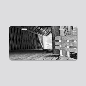 Covered Bridge Aluminum License Plate