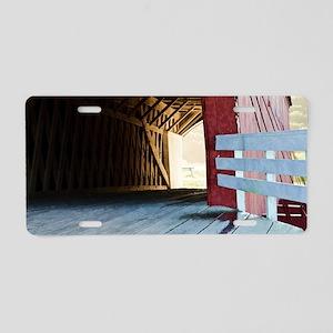 Covered Bridges Aluminum License Plate