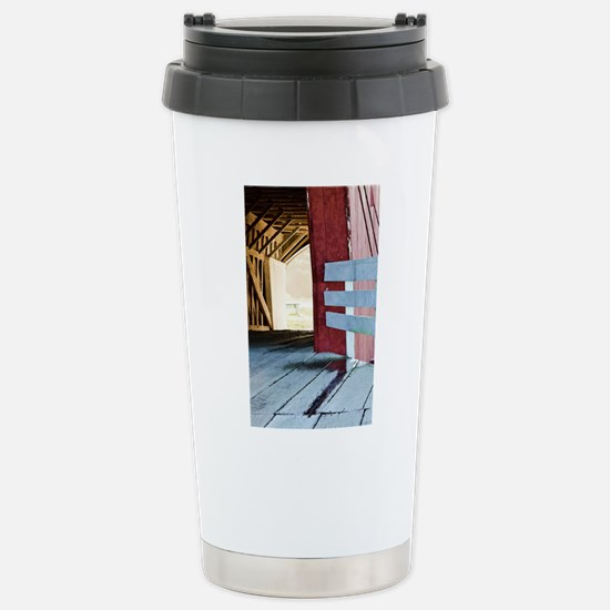 Covered Bridges Stainless Steel Travel Mug