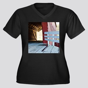 Covered Brid Women's Plus Size V-Neck Dark T-Shirt