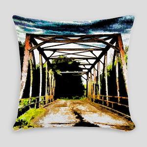Rusty Old Bridge Everyday Pillow
