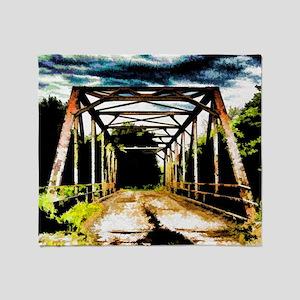 Rusty Old Bridge Throw Blanket