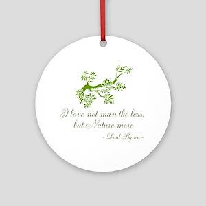 Love Nature Round Ornament