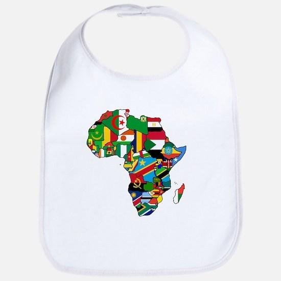Flag Map of Africa Baby Bib